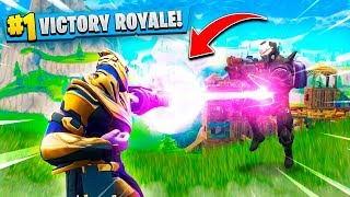 THANOS VS LEVEL 100 OMEGA SKIN! (Fortnite Battle Royale)