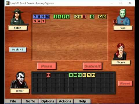 Hoyle Board Games 2002: Rummy Squares - YouTube