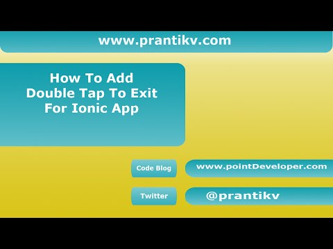How To Add Double Back Tap Exit For Ionic Apps - pointDeveloper com