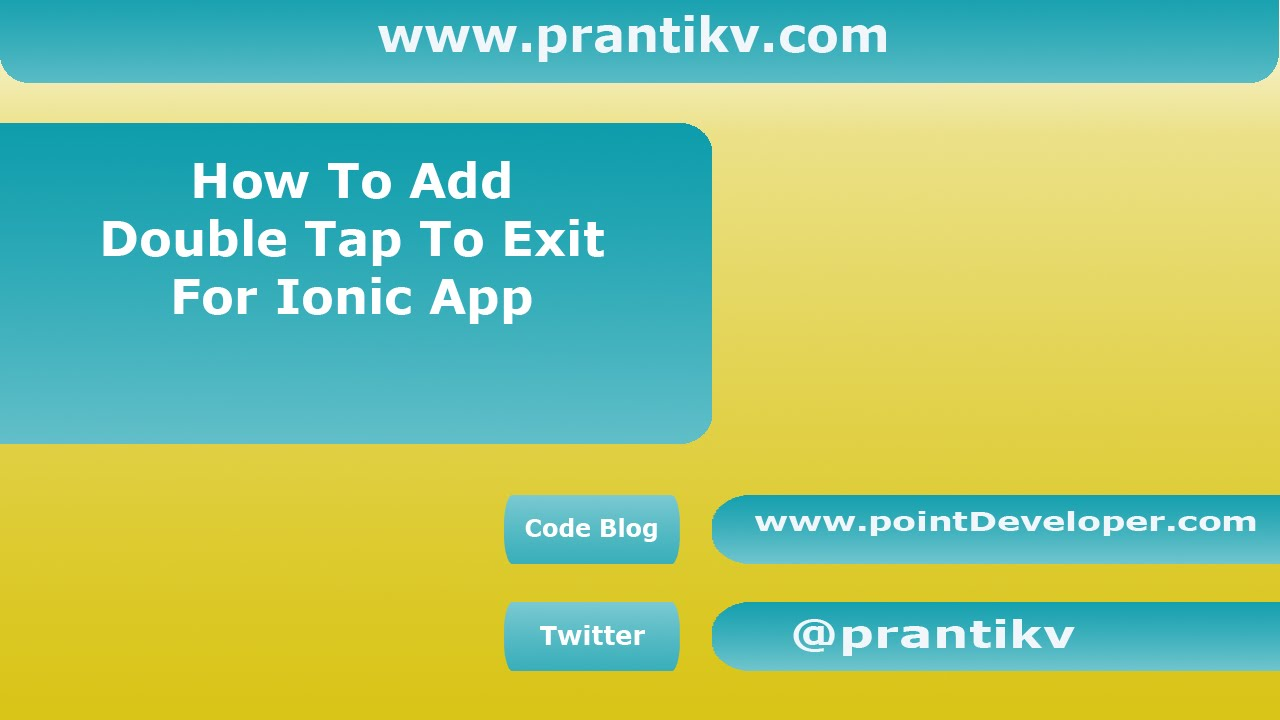 How to add double back tap toast exit for ionic app