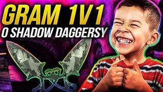 GRAM o SHADOW DAGGERSY  z WIDZEM!!   CS:GO   1V1 o SKINY!