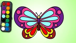 how to draw a butterfly | 나비 그리기 | easy drawing | learn Coloring for Kids