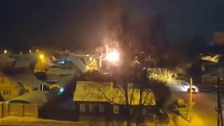Пожар на переулке Тихом в Брянске