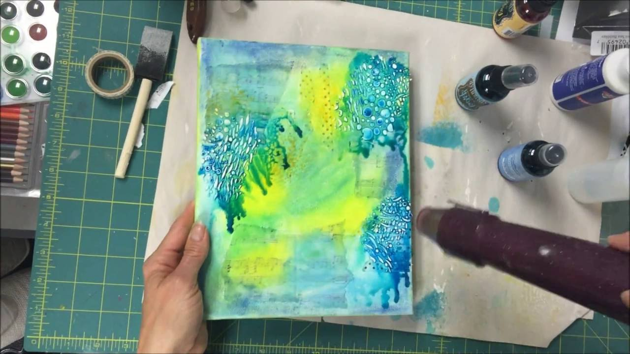 How To Make A Mermaid Mixed Media Canvas
