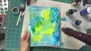How to make a Mermaid Mixed Media Canvas