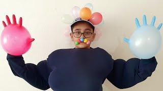 Buğra Balon Adam Oldu. Balloon Child Fun Kids Video