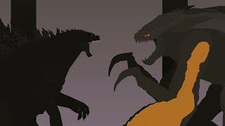 Dagon vs Muto Prime / Animação Stick Nodes ( Monsterverse)