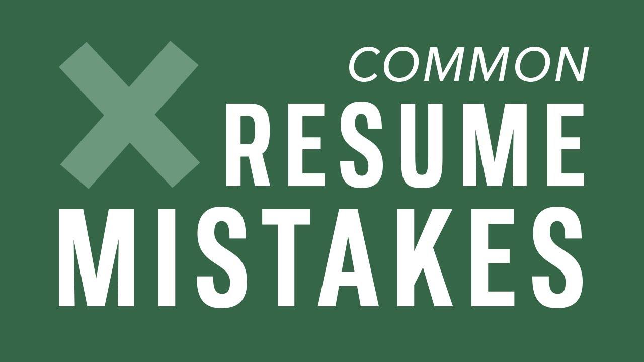 Common Resume Mistakes To Avoid Youtube