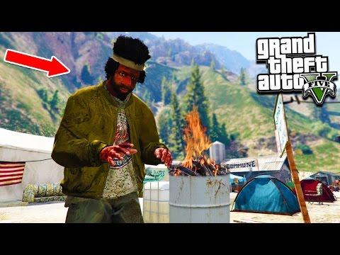 GTA 5 HOMELESS LIFE! Surviving, Fishing, Bank Heists & More! (GTA 5 Mods)