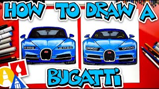 How To Draw A Bugatti Chiron (Front View)