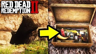 *SECRET* GOLDEN TREASURE WITH BEST WEAPON AND.. in Red Dead Redemption 2! Location Tips RDR2!