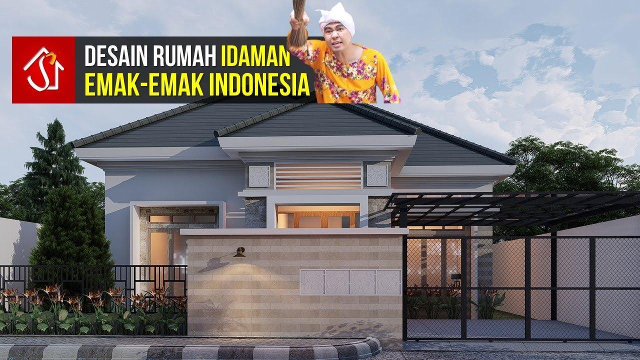 Rumah 1 Lantai 3 Kamar Bergaya Tropis Modern Dilahan 12x20 Meter Youtube