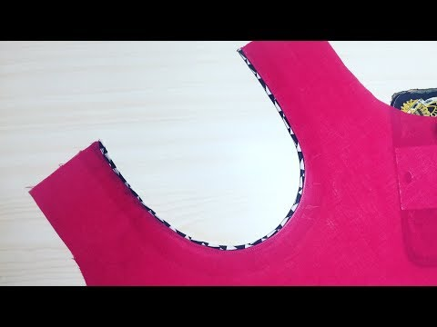 Attach Underground Piping on Neck  || Sewing tutorial
