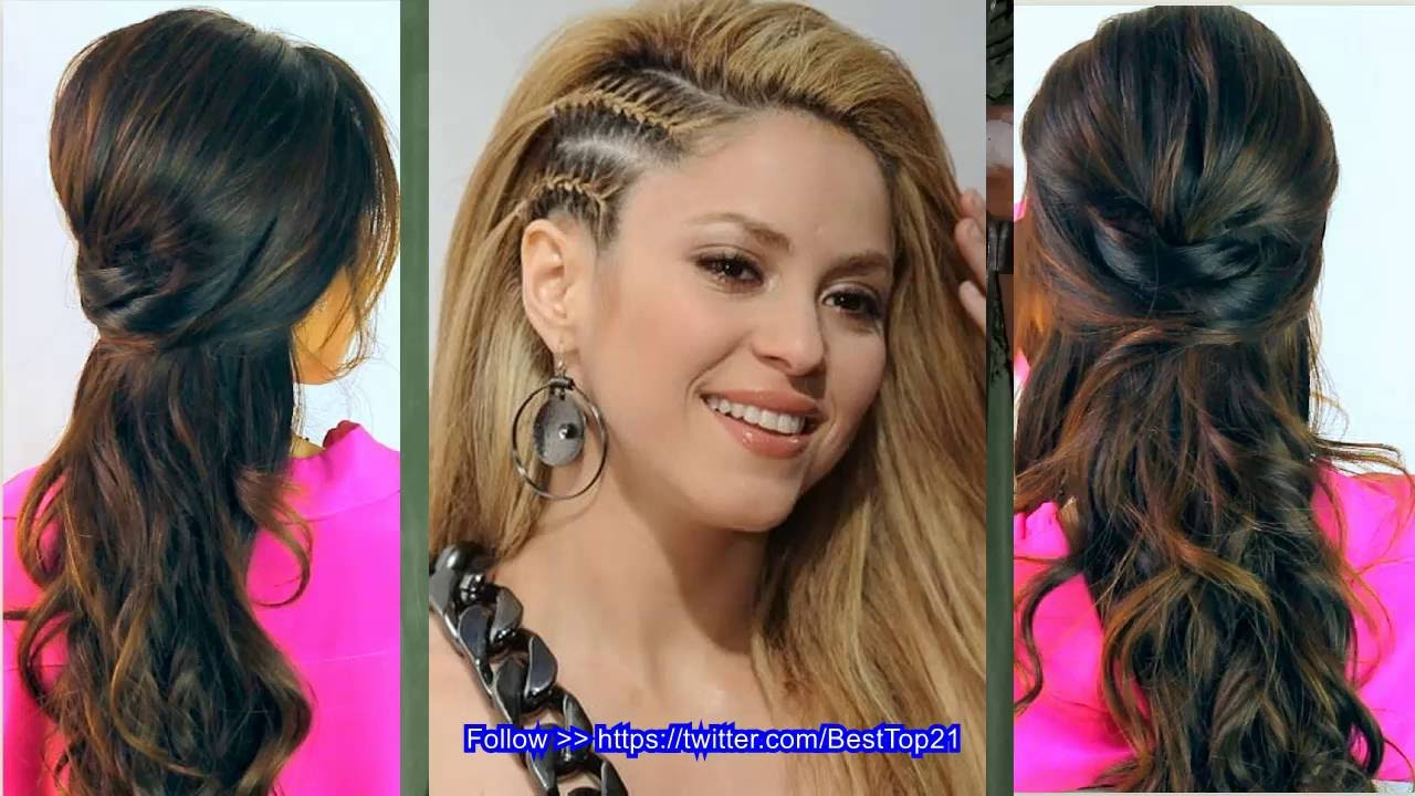 cute hairstyles for long straight hair - youtube