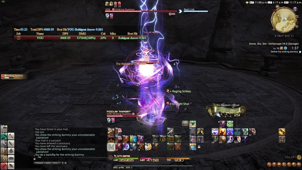 FFXIV Stormblood - O4S Dummy Kill and Testing RainbowMage