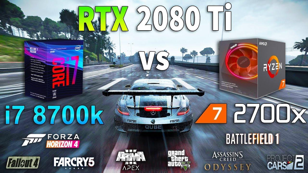 Ryzen 7 2700x vs i7 8700k on RTX 2080 Ti