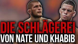 Die SCHLÄGEREI zwischen KHABIB und NATE DIAZ!