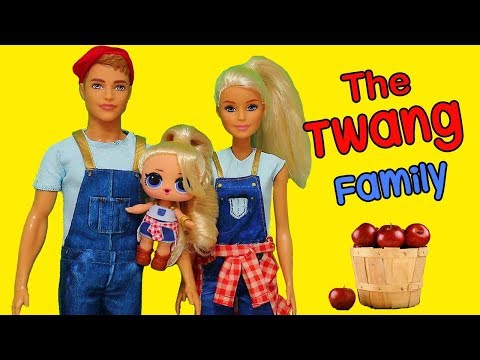 Barbie Doll LOL Family Morning Routine in the Twang Farm ! L.O.L. Surprise Dolls and Toys for Kids