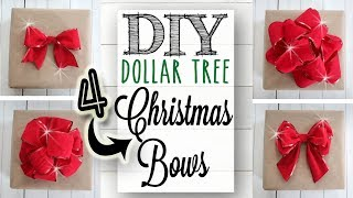 DIY Dollar Tree Christmas Bows | 10 of 12 Days of Christmas