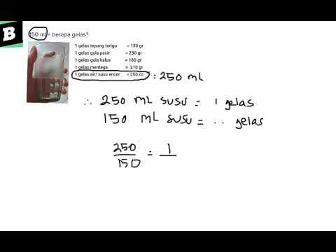 150 Ml Berapa Gelas Youtube