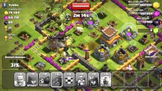 Clash of Clans 8 Dragon Attack + Barbarian King & Archer Queen
