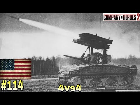 U.S. Forces - Company of Heroes 2 - #4vs4 #114