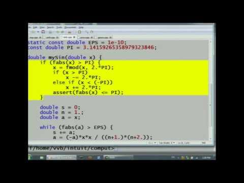 Лекция 141: Исправление программы вычисления Sin(x) путем использования периодичности функции Sin(x)