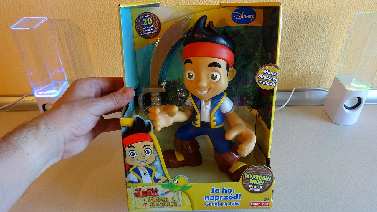 Disney Jake and the Never Land Pirates Talking Figure Unboxing ...