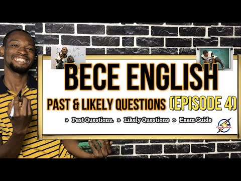 Junior Waec (BECE) English Language Questions   Episode 4