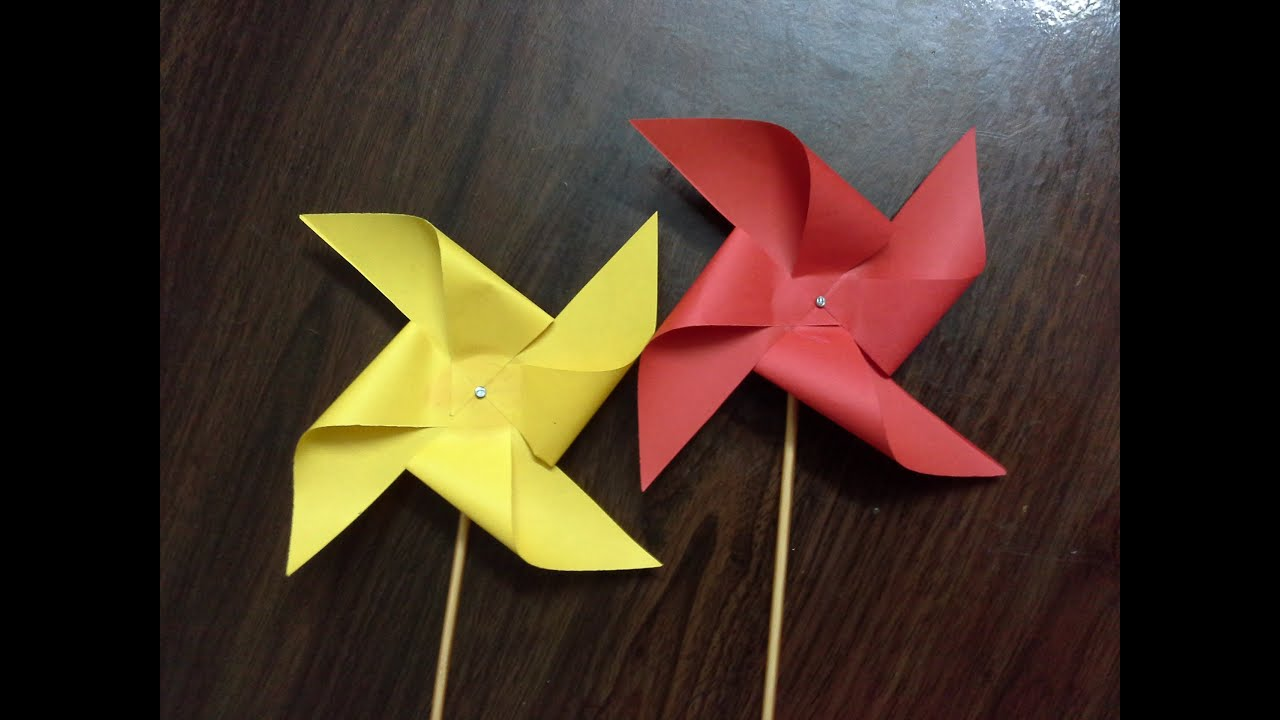 how to make a paper windmill tutorial paper pinwheel  YouTube