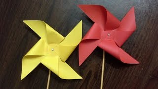 how to make a paper windmill (tutorial) paper pinwheel