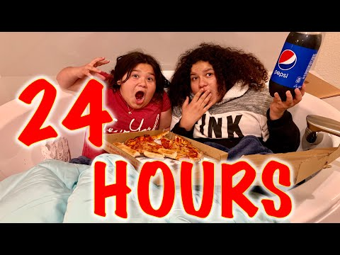 24 HOURS OVERNIGHT IN OUR BATHROOM CHALLENGE!!