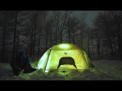 대설주의보 속 혹한기 캠핑 l winter camping l backpackingtent l mangosteen2.5 l korea backpacking