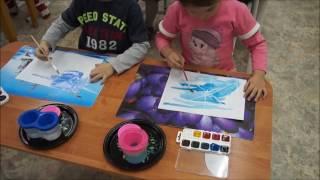 Беседа и рисование в старшей группе на тему «Зимние узоры».