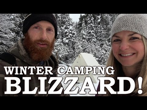 Overnight WINTER Camping with a GIRL | She SNARED a WILD Rabbit!