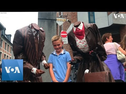 Living Statues take over Belgium town