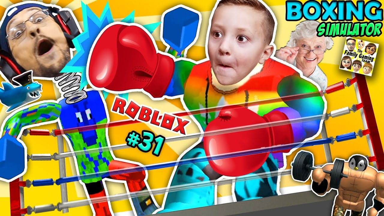 ROBLOX GIANT GRANNY MUSCLE FREAK vs. FGTEEV! Boxing Simulator: Buff Bobbleheads! Father Son Gameplay
