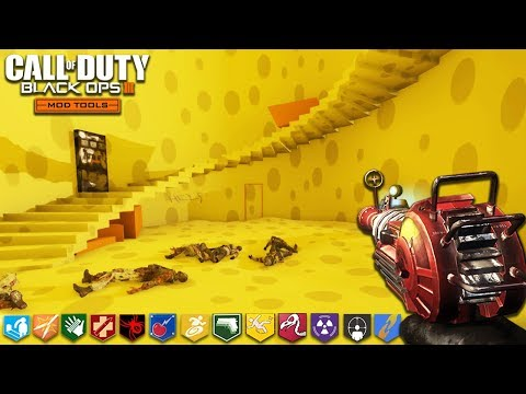 """CHEESE CUBE UNLIMITED (hard) - BLACK OPS 3 """"CUSTOM ZOMBIES"""" MODS! (Call of Duty: Zombie Mods)"""