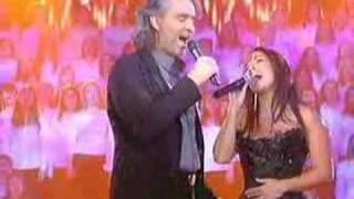 "Andrea Bocelli &  Hélène Ségara ""Vivo Per Lei"" on stage"