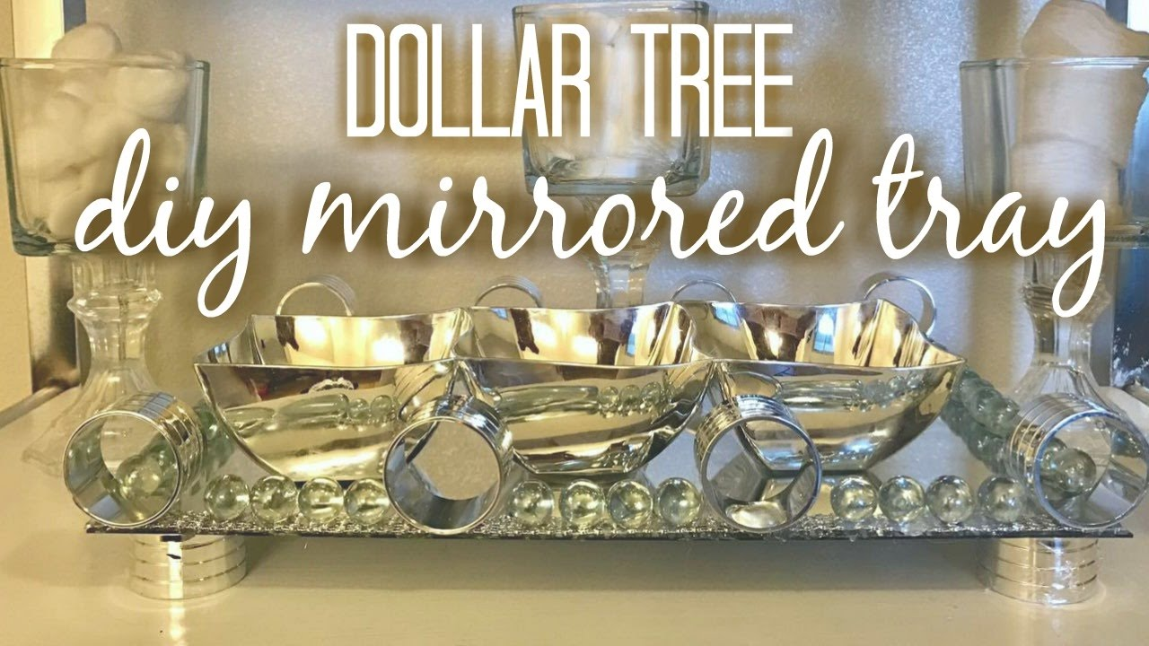 Dollar Tree Diy Mirrored Tray Home Decor Youtube