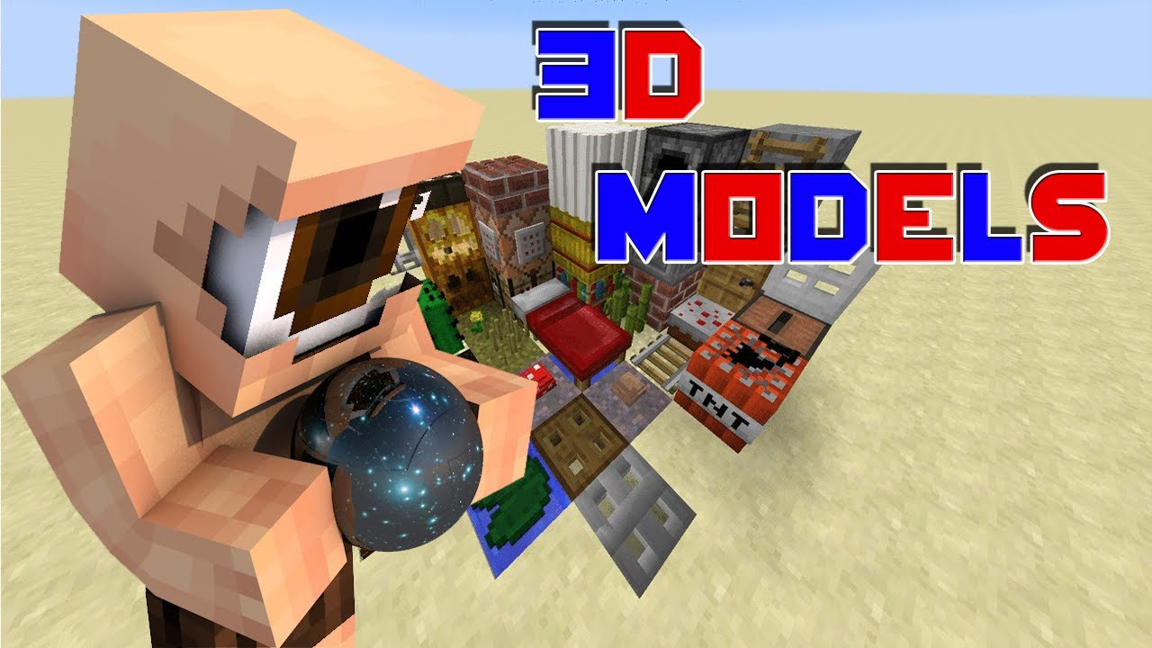 3D MODELS! [Minecraft Resource Pack Review] [1.8] [HD ...