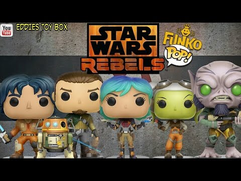 Star Wars Rebels Funko Pop! set review! Ezra, Chopp, Kanan, Hera, Sabine, Zeb!