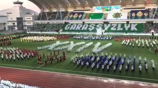 Turkmenistan Independence Day XXIV, Ashgabat(This is a video of the 2015 Turkmenistan Independence Day XXIV celebration in Ashgabat. Like DPRK North Korea Mass Games., 2015-11-23T08:44:44.000Z)