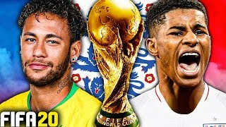 THE EPIC WORLD CUP 2022 FINAL VS BRAZIL!!! WORLD CHAMPIONS?! FIFA 20 ENGLAND CAREER MODE #3