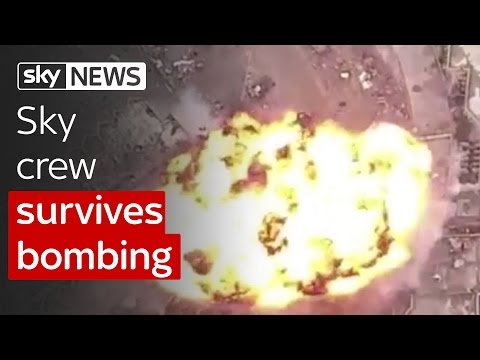 Watch as Sky News crew survives Islamic State suicide bomb explosion in Mosul