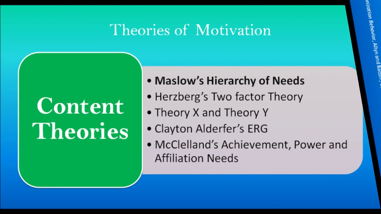 compare maslows and alderfers motivation theory