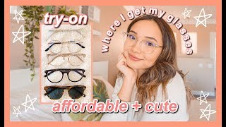 Gambar cover new glasses try on haul ft. EyeBuyDirect| affordable trendy glasses!