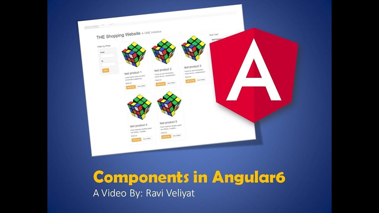 Angular 6 Components - Shopping Cart UI (Gujarati & English