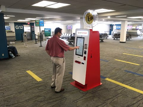 Bitstop Bitcoin ATM At Miami International Airport, Concourse G Next To Gate 16