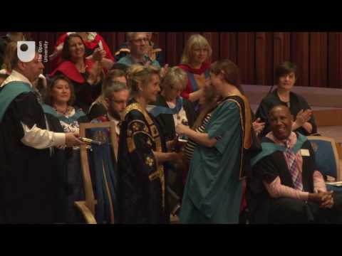 OU degree ceremony, Barbican Centre, London, Friday 24th March, 10.45am